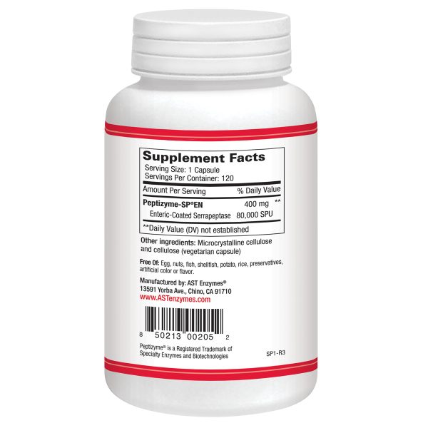 Serrapeptase Supplement Facts